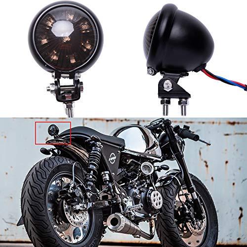 LED Motorrad Rücklicht Bremsrücklicht schwarz universal für Street Bike Chopper Bobber Cafe Racer CB1300 883...