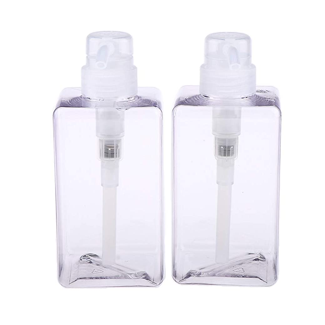 Fenteer 化粧品容器 分けボトル ローションボトル 詰め替え 携帯用 漏れ防止 再使用可能 2個 全6サイズ - 450ml