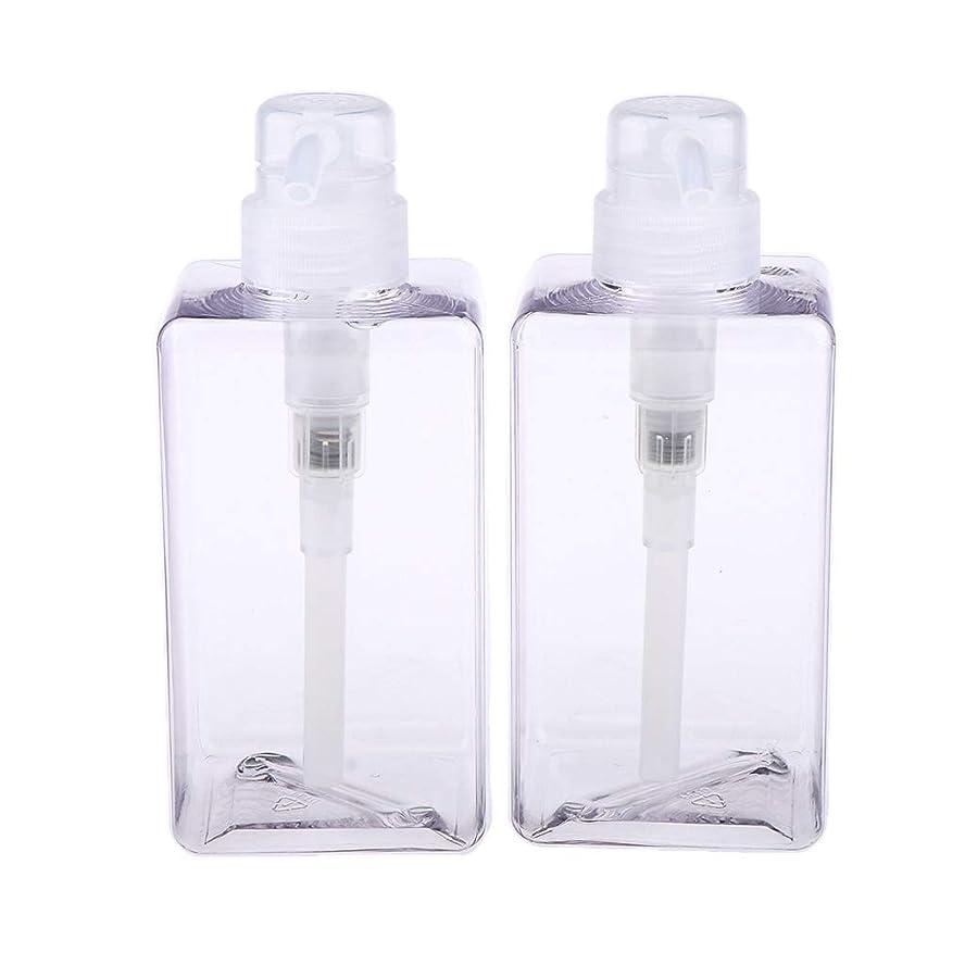 基礎理論活発冷えるFenteer 化粧品容器 分けボトル ローションボトル 詰め替え 携帯用 漏れ防止 再使用可能 2個 全6サイズ - 450ml
