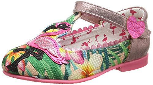 Irregular Choice 4395-1, Bailarinas Mary Jane Niñas, Multicolor (Peach), 34 EU