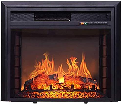 NSYNSY Calefacción por Estufa eléctrica Chimeneas eléctricas con Estufa de leña Efecto Llama silencioso sin radiación 1400 W calefacción por Chi