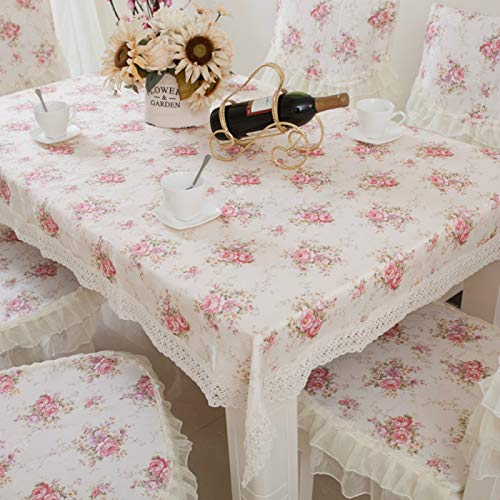 YOUYUANF Mantel Individual Rectangular de plástico antiincrustante El Mantel de PVC es fácil de Limpiar: el Mantel Rectangular de Vinilo de plástico es fácil de limpiar150x150cm