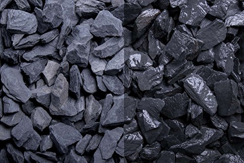Kies Splitt Zierkies Edelsplitt Canadian Slate schwarz 10-20mm Sack 20 kg