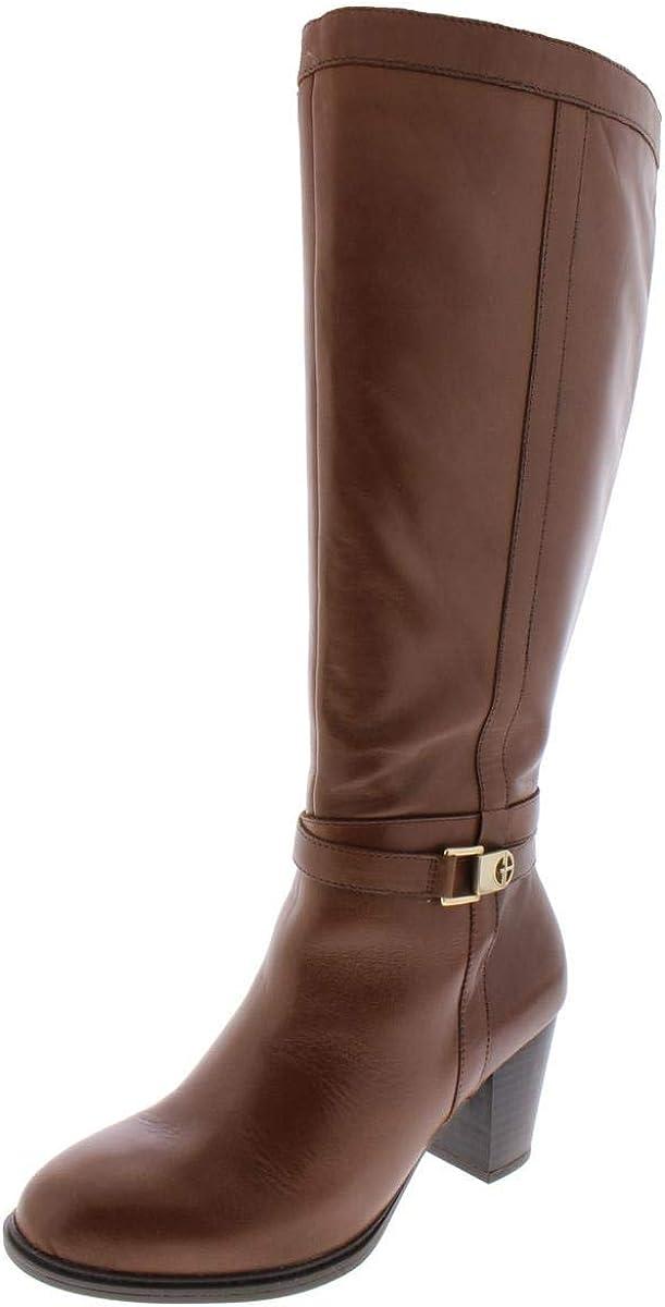 Giani Bernini Womens Revaa Leather Almond Toe Mid-Calf Fashion Boots