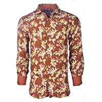 Suslo Couture Men's Floral Designer Printed Long Sleeve Shirts