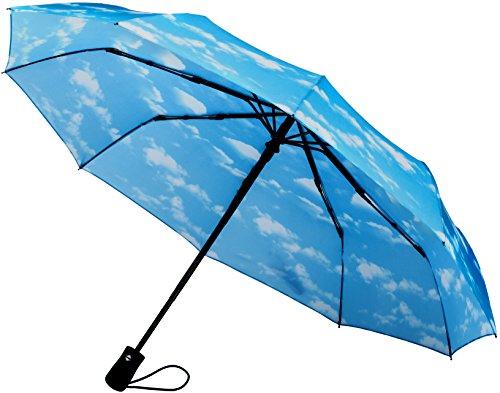 Crown CoastTravel Umbrella (Sky Clouds 10-Rib Frame)