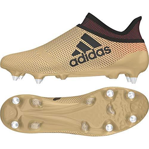 adidas X 17 SG, Scarpe da Calcio Uomo, Oro (Tagome/Cblack/Solred Tagome/Cblack/Solred), 42 EU