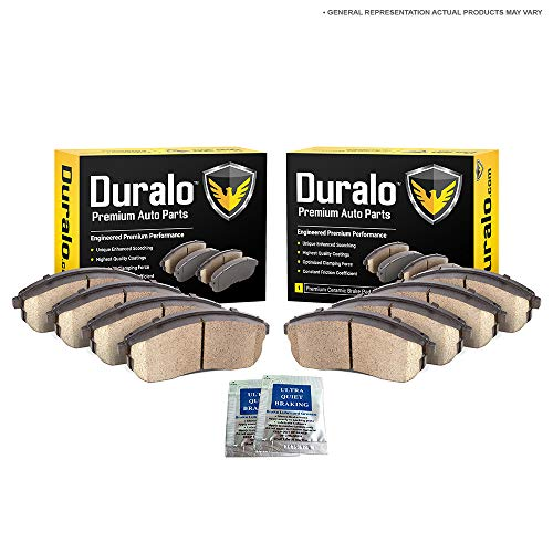 Duralo Ceramic Front Rear Brake Pads For Jeep Wrangler JK Liberty & Dodge Nitro - Duralo...