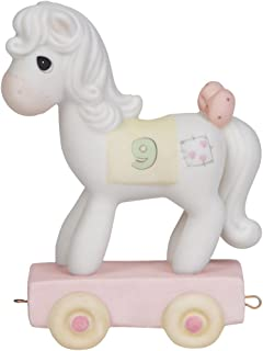 Precious Moments,  Being Nine Is Just Divine, Birthday Train Age 9, Bisque Porcelain Figurine, 142029