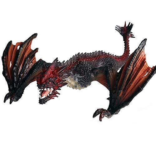 FLORMOON Bestia Dragón Figura RealistaFiguritas De Animales Early Educational Juguete Dinosuar Educación temprana Proyecto de Ciencias Cumpleaños de Navidad Torta de cumpleaños para niños pequeños