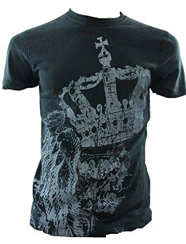 725 Originals - T-Shirt à Manches Longues - Manches Courtes - Homme Noir Noir Petit