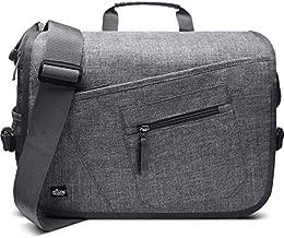 Qipi Messenger Bag - Pocket Rich Satchel Shoulder Bag for Men & Women - with 15.6 inch Laptop Compartment (Grey)