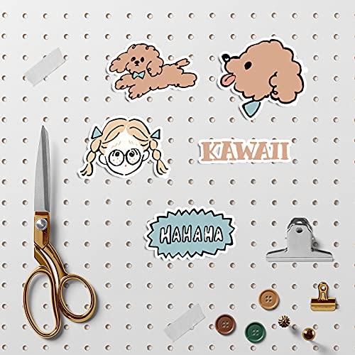 YMSD Coreano ins viento mano cuenta etiqueta engomada perro patrón material teléfono móvil portátil agua taza diy decoración chica etiqueta