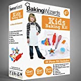 Deluxe 20 Piece Kids Kitchen Cooking & Baking Set With Apron and Real Utensils - Suitable For Boys & Girls Age 3 to 10 - Ideal Christmas or Birthday Gift