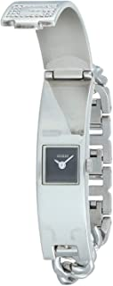 Guess I95176L1 Brass Square Analog Watch for Women - Silver