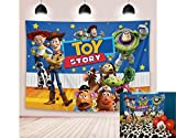 5X3FT Cartoon Toy Story Theme Photography Background Kids Birthday Boy Baby Shower Party Background Vinyl Photo Studio Props
