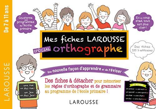 Fiches de révision Cycle 3 orthographe: Une nouvelle façon d'apprendre et de réviser (Cahiers de vacances primaire)