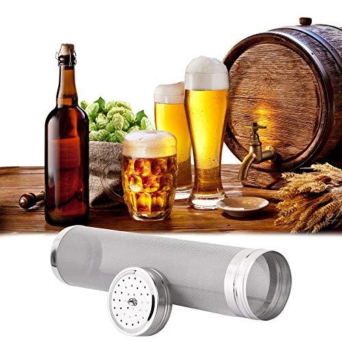 RMENOOR Bier Sieb Hopfenfilter aus 304 Edelstahl Wiederverwendbare Bier Brauen Hopfen Filter Homebrew Hopfen Sieb Filter 400 Micron Bier Mesh für Hausgemachte Brew Home Coffee (Silber)