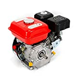 OUKANING Motor de Gasolina de 7.5 HP Motor de Kart Motor de 4 Tiempos Cilindro Simple Inclinado de 25 ° para Bombas y Embarcaciones 3600 RPM 5.1 KW (Light Red+Black)