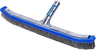 "Aquatix Pro Heavy Duty Pool Brush 18"" Strong Aluminium Swimming Pool Cleaning Brush with Stainless Steel Bristles & EZ Cli..."