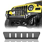 Hooke Road Front Skid Plate Bumper Cover Compatible with Jeep Wrangler TJ 1997 1998 1999 2000 2001 2002 2003 2004 2005 2006