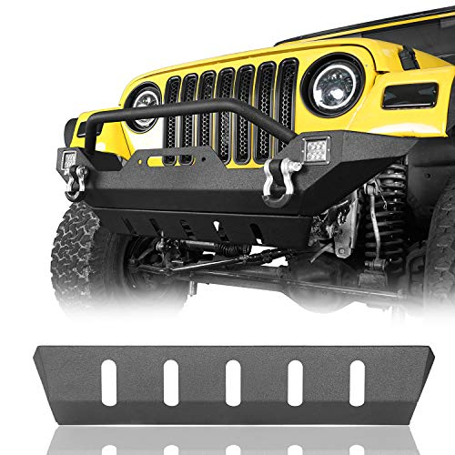 ECOTRIC Fuel Tank Skid Plate Cover Powder Coat Steel Compatible with 1999 2000 2001 2002 2003 2004 Jeep Grand Cherokee