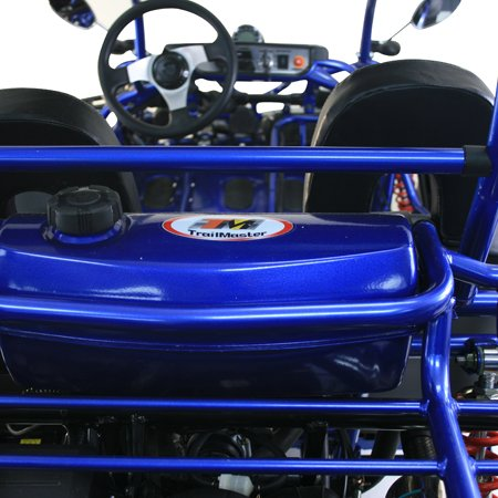 X-PRO Blast 110 Kids Gokart Dune Buggy Youth 6.8hp Go Cart with LED headlights and Remote Control!With Glove and Goggles Blue
