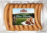 Wiener Würstchen frisch | traditionell Buchenholz geräuchert | Wurst im Naturdarm Saitling | Würstel in Metzger Qualität | 20 x 50 g