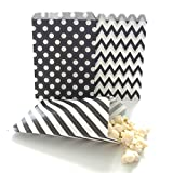 Party Supply Goodie Bag Kit, Black (75 Pack) – Scoop Candy Buffet Treats At Birthdays, Weddings & Baby Showers