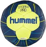 hummel IHF Ballon de Handball Professionnel pour Sport et entraînement – Taille 2 ou 3 – Storm Pro HB – Résine – Bleu Fluo et Jaune – Ballon avec Valve Air-Trap 3 Bleu Fluo/Vert Fluo