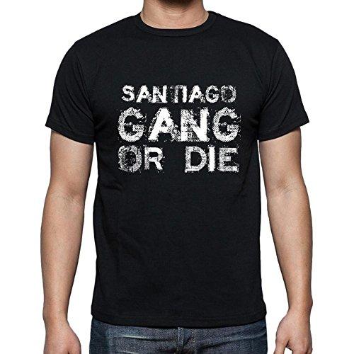 Santiago Family Gang, Camiseta para Las Hombres, Manga Corta, Cuello Redondo, Negro