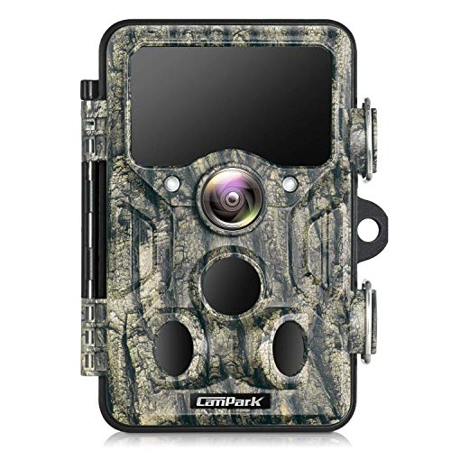 Campark WiFi Bluetooth Trail Camera 20MP 1296P Game Hunting Camera with 940nm IR LEDs No Glow Night...