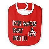 1. FC Köln Baby Lätzchen rot/weiß 2er Set, Babylätzchen - Plus Lesezeichen I Love Köln