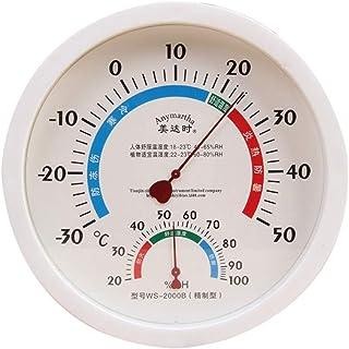 Higrómetro para Interior Termómetro analógico de colgante de pared Higrómetro Temperatura Monitor de calibre de humedad pa...