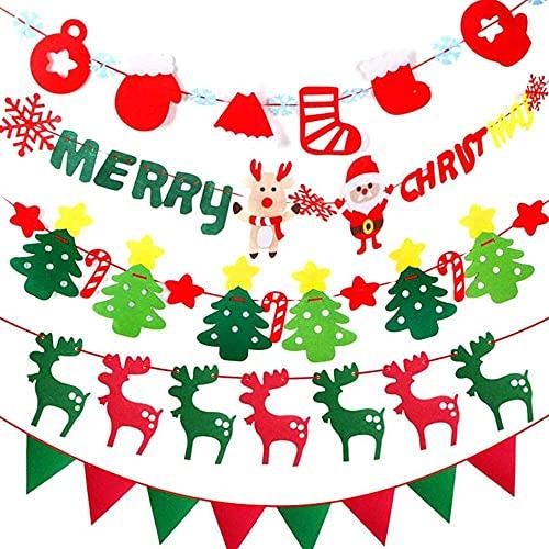 xiaoyu shop 5 juegos de guirnalda colgante de Navidad de 10 pies no tejida para fiestas colgantes