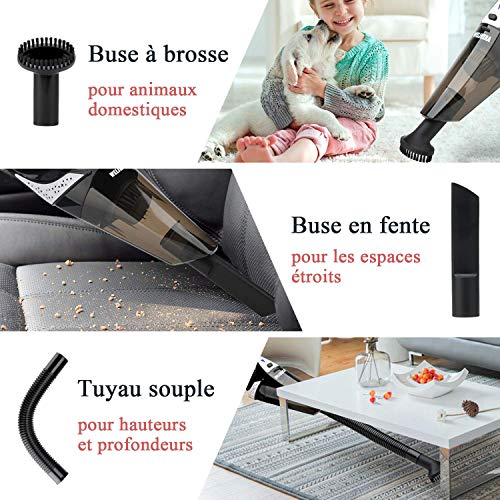 Aspirateur à Main Sans Fil, WELIKERA Aspirateur de Table Rechargeable Aspirateur Portable...