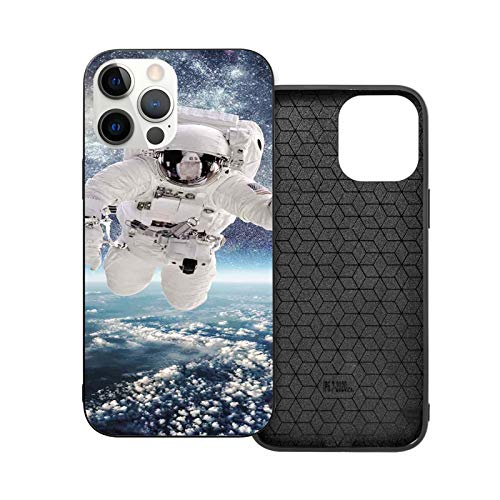 Compatible with iPhone 12 Series Case Outer Space Theme Astronaut in Milkyway Print Galaxy Stardust Earth Home Decor for iPhone 12 Pro 6.1inch (2020)
