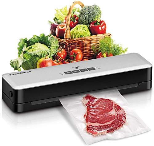 Bonsenkitchen Vacuum Sealer Machine, Compact Food Vacuum Sealer for Sous Vide Cooking, One Key Automatic Food Saver