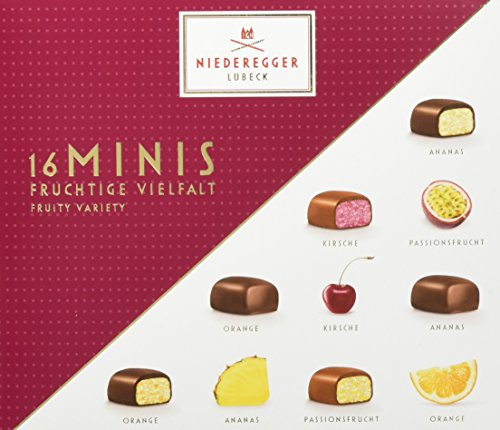Niederegger Marzipan Minis fruchtige Vielfalt, 4er Pack (4 x 112 g)