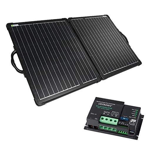 WATTSTUNDE Solarkoffer ULTRA LIGHT - faltbares Solarmodul für Camper, Wohnwagen und Outdoor in Leichtbauweise (120W, MPP 165)