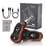 Donner Wireless Guitar System, UHF Wireless Guitar Transmitter Receiver 10 Channels Transmission Range High Frequency Battery Rechargeable for Electric Guitar