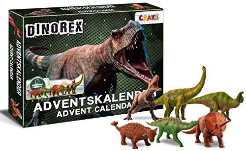 CRAZE Adventskalender DINOREX Dinosaurier Weihnachtskalender für Jungen Spielzeug Kalender Inhalte 28186, Tolle Überraschungen