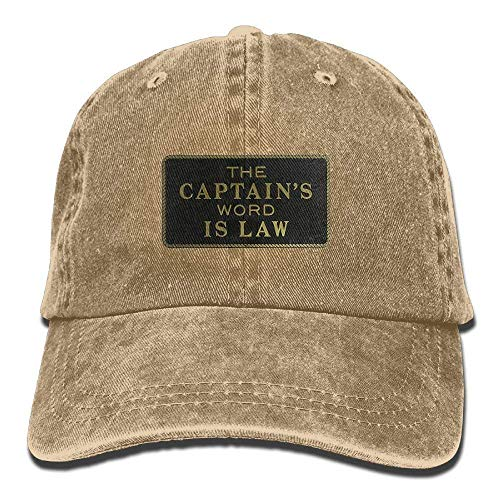 Hoswee Baseballmütze Hüte Kappe The Captain's Word is Law Unisex Denim Baseball Cap Adjustable Hats