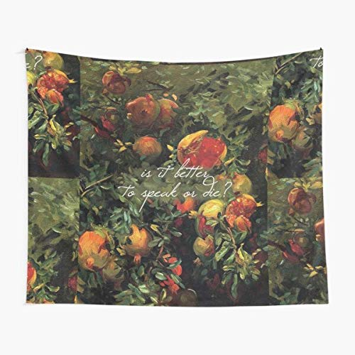 is It Better to Speak Or Die Cmbyn Peach Tapestry Wall Art Tapestries for Dorms Bedroom Living Room Colorful Décor