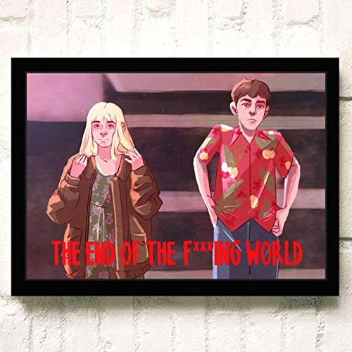 lubenwei The End of the F***ing World Movie HD Star Wall Art Home Decor Canvas Painting Art Nordic Decoration Room Poster 40x60cm No frame (WA-490)