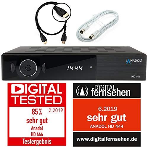Preisvergleich Produktbild Anadol ADX HD 444 HDTV digitaler Sat-Receiver (HDTV,  DVB-S / S2,  HDMI,  2X USB 2.0,  FullHD 1080p,  YouTube) [vorprogrammiert für Astra Hotbird Türksat ] inkl. HDMI Kabel + Satkabel 2m,  schwarz