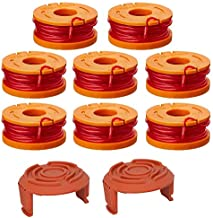 Lucky Seven Trimmer Spool Line for Worx,Edger Spool Compatible with Worx Trimmer spools Weed Eater String, Trimmer Line Refills 0.065 inch for Electric String Trimmers(10 Pack)