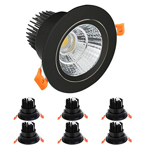BAGZY LED Empotrado Downlight COB Foco Redondo Lámpara de Techo 110-250V 12W...