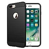NEW'C Funda para iPhone 7 Plus y iPhone 8 Plus (5.5') Funda Protector 2 en 1 Robusto antichoque [Gel de Silicona + PV]