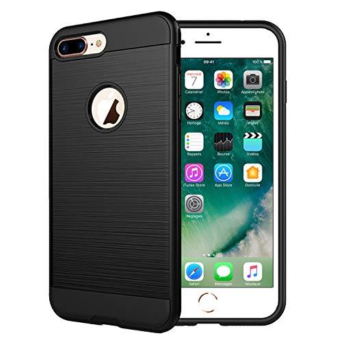 NEW'C Cover Compatibile con iPhone 7 Plus e iPhone 8 Plus (5.5'), Custodia Protettiva 2 in 1 Robusta Anti-Shock [Gel di Silicone + PV]